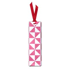 Triangle1 White Marble & Pink Denim Small Book Marks by trendistuff