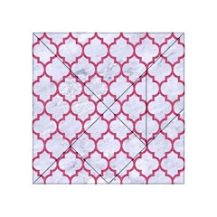 Tile1 White Marble & Pink Denim (r) Acrylic Tangram Puzzle (4  X 4 ) by trendistuff