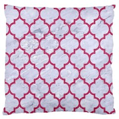 Tile1 White Marble & Pink Denim (r) Large Cushion Case (two Sides) by trendistuff