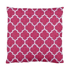 Tile1 White Marble & Pink Denim Standard Cushion Case (two Sides) by trendistuff