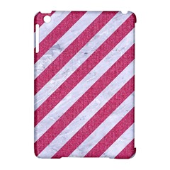 Stripes3 White Marble & Pink Denim (r) Apple Ipad Mini Hardshell Case (compatible With Smart Cover) by trendistuff