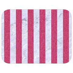 Stripes1 White Marble & Pink Denim Full Print Lunch Bag by trendistuff