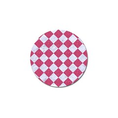 Square2 White Marble & Pink Denim Golf Ball Marker (10 Pack) by trendistuff