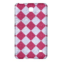 Square2 White Marble & Pink Denim Samsung Galaxy Tab 4 (7 ) Hardshell Case  by trendistuff