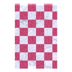 Square1 White Marble & Pink Denim Shower Curtain 48  X 72  (small)  by trendistuff