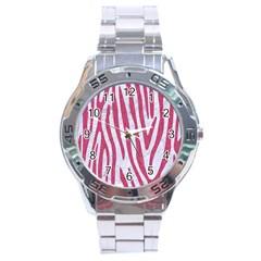 Skin4 White Marble & Pink Denim Stainless Steel Analogue Watch by trendistuff