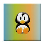Tux Linux Hacker custom Tile Coaster