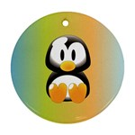Tux Linux Hacker custom Ornament (Round)