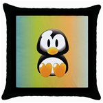 Tux Linux Hacker custom Throw Pillow Case (Black)
