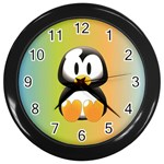 Tux Linux Hacker custom Wall Clock (Black)