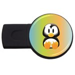 Tux Linux Hacker custom USB Flash Drive Round (2 GB)