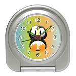 Tux Linux Hacker custom Travel Alarm Clock