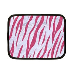 Skin3 White Marble & Pink Denim (r) Netbook Case (small)  by trendistuff