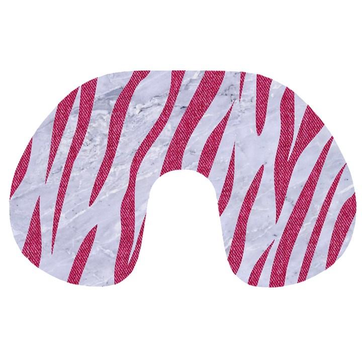 SKIN3 WHITE MARBLE & PINK DENIM (R) Travel Neck Pillows