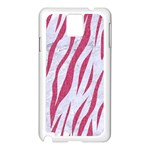 SKIN3 WHITE MARBLE & PINK DENIM (R) Samsung Galaxy Note 3 N9005 Case (White) Front