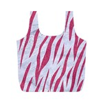 SKIN3 WHITE MARBLE & PINK DENIM (R) Full Print Recycle Bags (M)  Front
