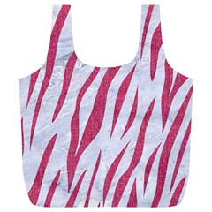Skin3 White Marble & Pink Denim (r) Full Print Recycle Bags (l)
