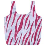 SKIN3 WHITE MARBLE & PINK DENIM (R) Full Print Recycle Bags (L)  Front