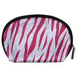 SKIN3 WHITE MARBLE & PINK DENIM (R) Accessory Pouches (Large)  Back
