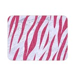 SKIN3 WHITE MARBLE & PINK DENIM (R) Double Sided Flano Blanket (Mini)  35 x27 Blanket Front