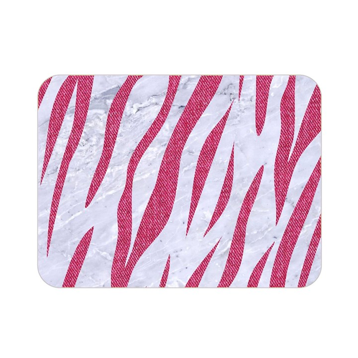 SKIN3 WHITE MARBLE & PINK DENIM (R) Double Sided Flano Blanket (Mini)