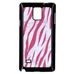 Skin3 White Marble & Pink Denim (r) Samsung Galaxy Note 4 Case (black)