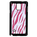 SKIN3 WHITE MARBLE & PINK DENIM (R) Samsung Galaxy Note 4 Case (Black) Front