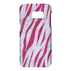 Skin3 White Marble & Pink Denim (r) Samsung Galaxy S7 Hardshell Case