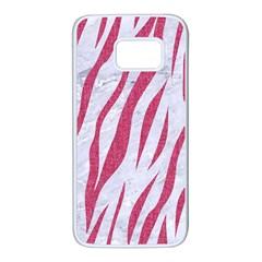 Skin3 White Marble & Pink Denim (r) Samsung Galaxy S7 White Seamless Case