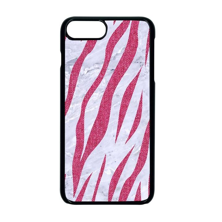 SKIN3 WHITE MARBLE & PINK DENIM (R) Apple iPhone 7 Plus Seamless Case (Black)