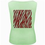 SKIN3 WHITE MARBLE & PINK DENIM Women s Green Tank Top Back