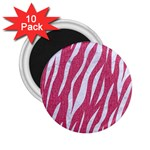 SKIN3 WHITE MARBLE & PINK DENIM 2.25  Magnets (10 pack)  Front