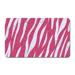 Skin3 White Marble & Pink Denim Magnet (rectangular)