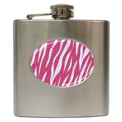 Skin3 White Marble & Pink Denim Hip Flask (6 Oz)