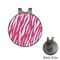SKIN3 WHITE MARBLE & PINK DENIM Hat Clips with Golf Markers