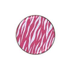 Skin3 White Marble & Pink Denim Hat Clip Ball Marker (4 Pack)