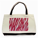 SKIN3 WHITE MARBLE & PINK DENIM Basic Tote Bag Front