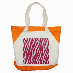 Skin3 White Marble & Pink Denim Accent Tote Bag by trendistuff