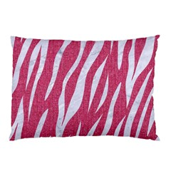 Skin3 White Marble & Pink Denim Pillow Case by trendistuff