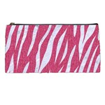 SKIN3 WHITE MARBLE & PINK DENIM Pencil Cases Front