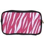 SKIN3 WHITE MARBLE & PINK DENIM Toiletries Bags Front