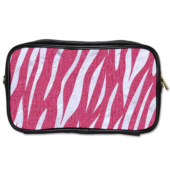 SKIN3 WHITE MARBLE & PINK DENIM Toiletries Bags
