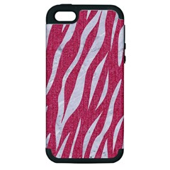 Skin3 White Marble & Pink Denim Apple Iphone 5 Hardshell Case (pc+silicone)