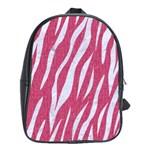 SKIN3 WHITE MARBLE & PINK DENIM School Bag (XL) Front