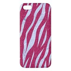 Skin3 White Marble & Pink Denim Apple Iphone 5 Premium Hardshell Case