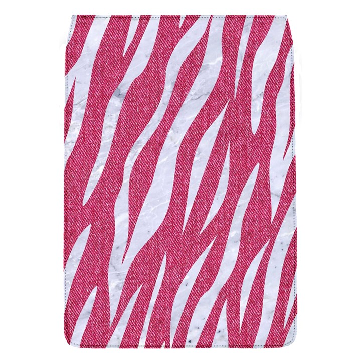 SKIN3 WHITE MARBLE & PINK DENIM Flap Covers (S)