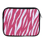 SKIN3 WHITE MARBLE & PINK DENIM Apple iPad 2/3/4 Zipper Cases Front
