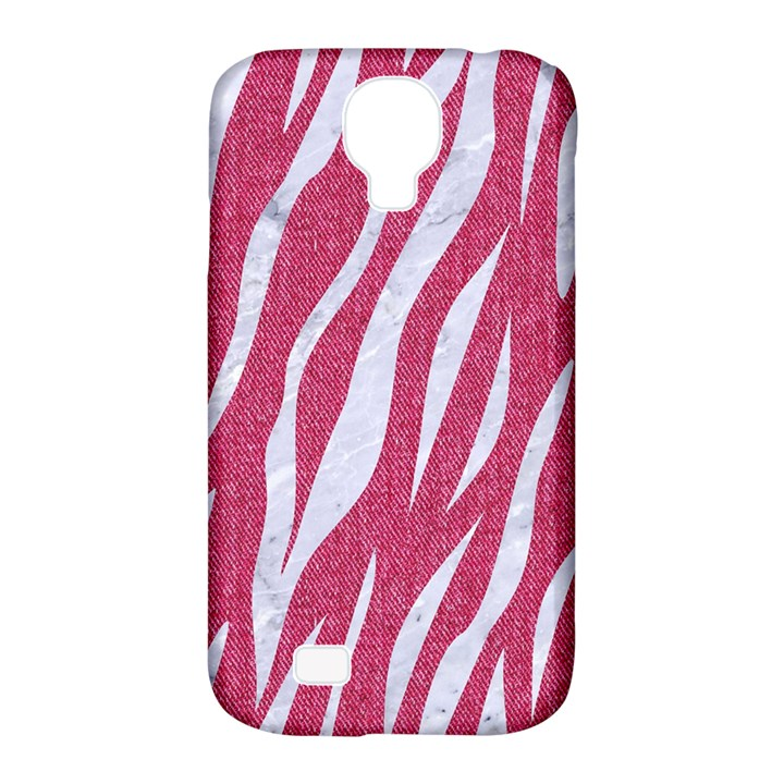 SKIN3 WHITE MARBLE & PINK DENIM Samsung Galaxy S4 Classic Hardshell Case (PC+Silicone)