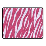 SKIN3 WHITE MARBLE & PINK DENIM Double Sided Fleece Blanket (Small)  45 x34 Blanket Back
