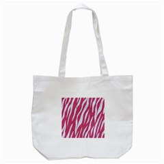 Skin3 White Marble & Pink Denim Tote Bag (white)